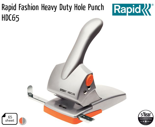 rapid fashion heavy duty hole punch hdc65