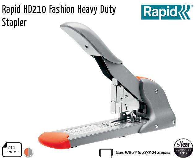 rapid hd210 fashion heavy duty stapler