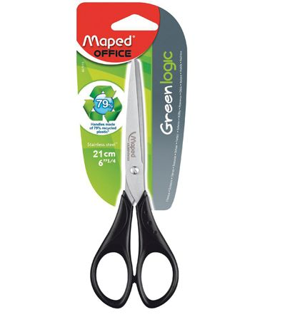 maped eco black handle scissors