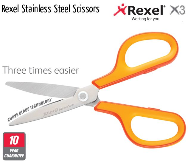 rexel stainless steel scissors