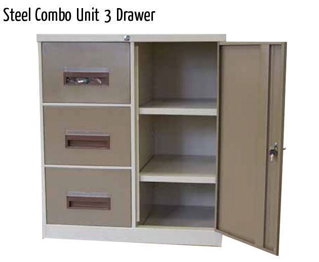steel combo unit 3 drawer