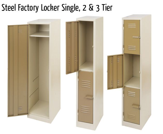 steel factory locker single 2 3 tier