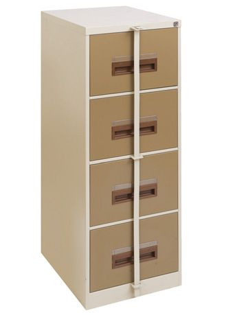 steel filing cabinet 4 drawer secure