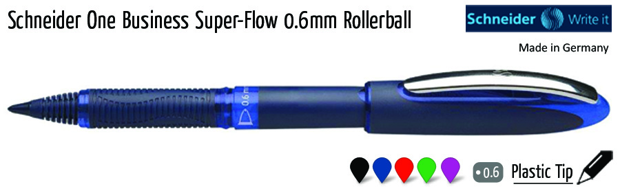 liquid schneider one business super flow 06mm rollerball
