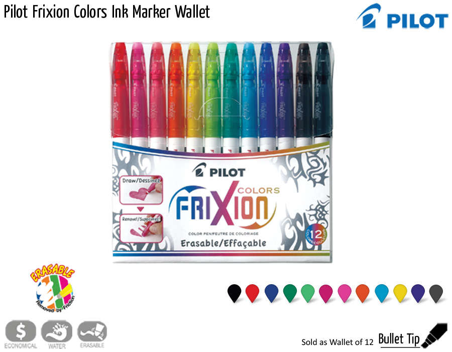 wallets pilot frixion colors ink marker wallet