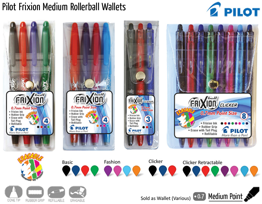 wallets pilot frixion medium rollerball wallets